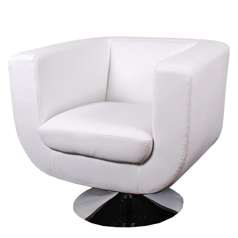 Loungesessel Drehbar Leder Weiß Licht Produktivevents
