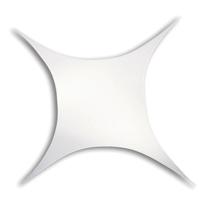 stretchsegel 4 punkt quadrat 125cm x125cm licht. Black Bedroom Furniture Sets. Home Design Ideas