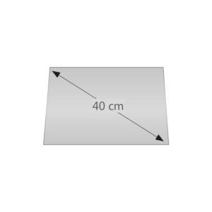 Spiegelplatte diagonale 60cm licht for Spiegel 40 2017